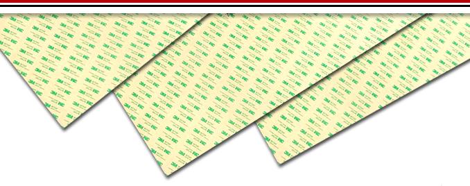 Biadesivi spaziatori per tastiere a membrane a fogli